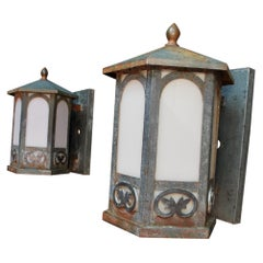 Pair of 1920's Outdoor Sconces