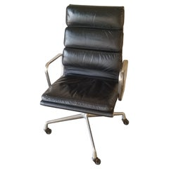 Original Herman Miller Eames Soft Pad Office Executive Chair Black Leather, 1978