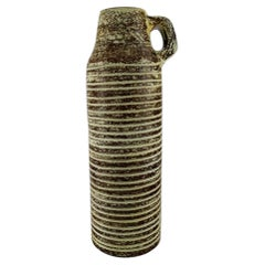 Ingrid Atterberg for Upsala-Ekeby, Large Floor Vase with Grooved Body and Handle