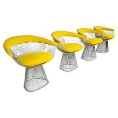 Set of 4 Warren Platners Chairs by Knoll International