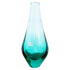 Bohemia Green Vase, M. Klinger, Czechoslovakia, 1960s