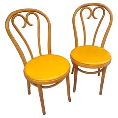 Pair of Vintage Thonet Bentwood Cafe Dining Chairs, C1960