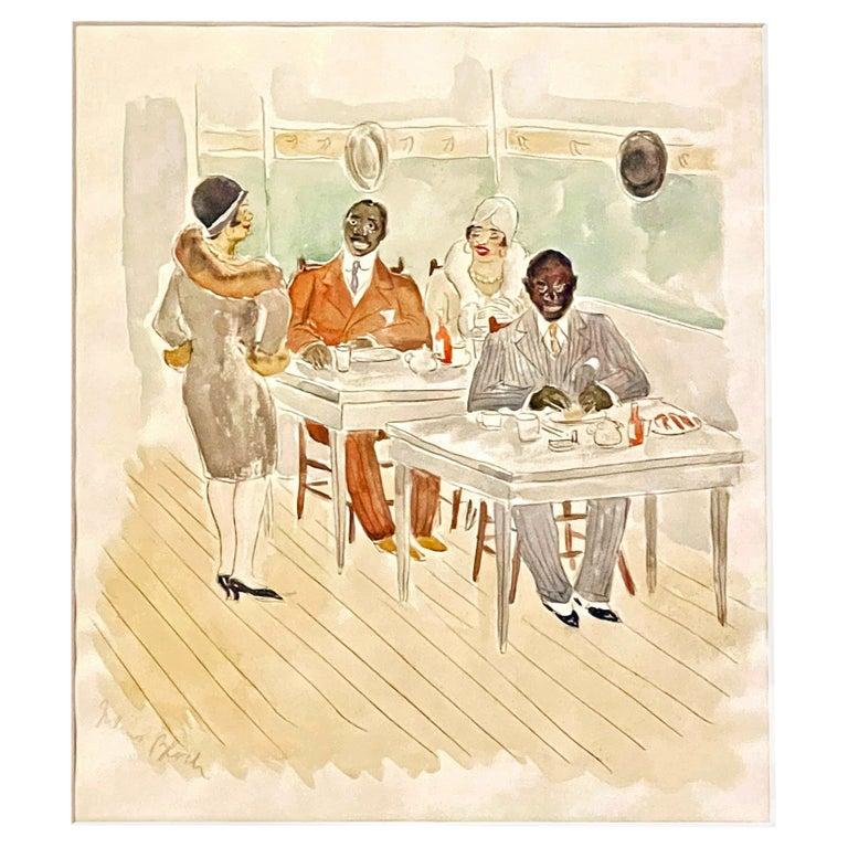"""Lunchroom Conversations,"" Glimpse of 1920s Black Social Life in Philadelphia For Sale"