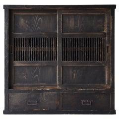 Japanese Antique Tansu 1860s-1920s/Chest of Drawer Cabinet Shelf Wabisabi