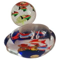 Murano Glass Aquarium Paperweights