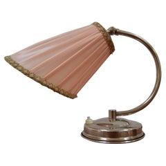 Art Deco Design Chrome Table Lamp, 1930's