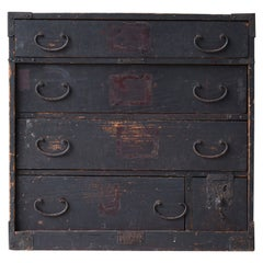 Japanese Antique Drawer 1800s-1860s/Tansu Storage Cabinet Chest Shelf Wabisabi