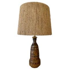 Mid-Century Ceramic Table Lamp by Marius Bessone Lamp, Vallauris, France, 1960s