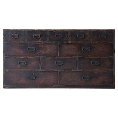 Japanese Antique Chests of Drawers 1860s-1920s/Tansu Commodes Cabinet Wabisabi