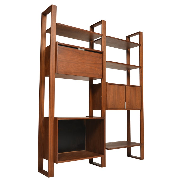 Dillingham Free-Standing Walnut Wall Unit For Sale