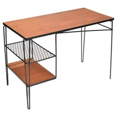 Pacific Design School Mahogany Desk by Thin Line of Los Angeles