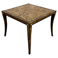 Vintage Regency Maitland Smith Tessellated Horn Game Table