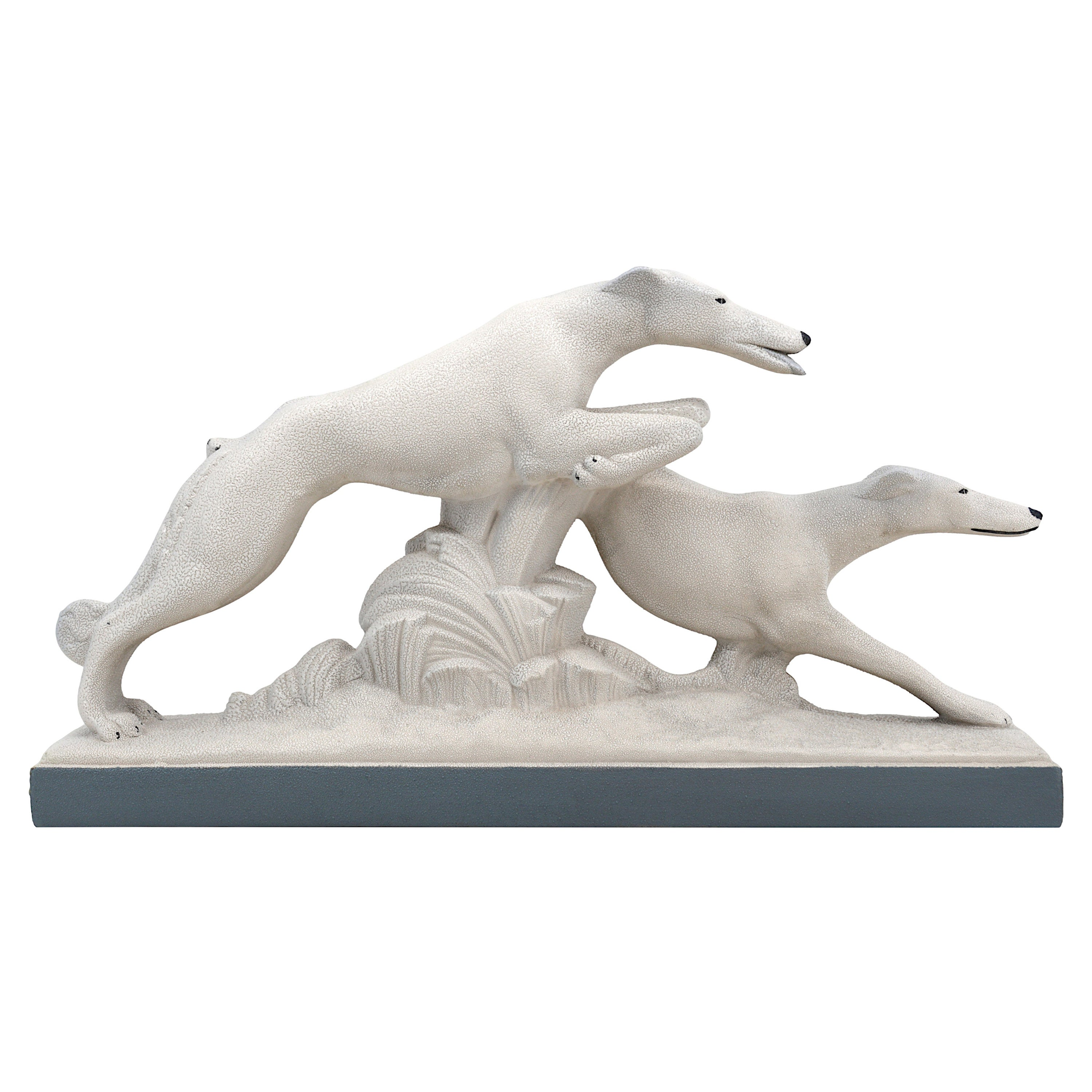 Charles Lemanceau French Art Deco Greyhound Couple, 1930s