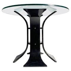 Vintage 60s / 70s Black Lucite Floral Dinette Table