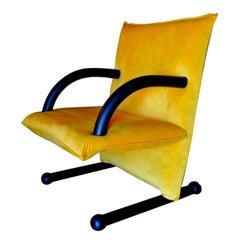 """Armchair Model """"T-Line"""" Design Burkhard Vogtherr, 1980s"""