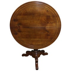 French 19th Century Louis-Philippe Tilt Top Table