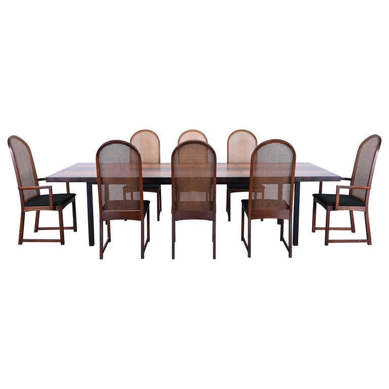 Dining Table and Chairs by Milo Baughman for Directional, 1960s For Sale