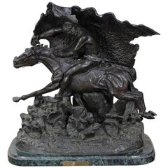 """""""The Horse Thief"""" Bronze Sculpture After Frederic Remington"""