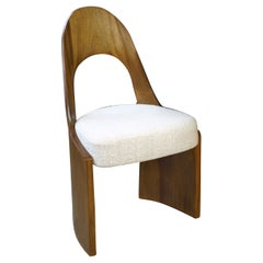 Gaia Chair, Carved from Solid Wood, Hand Finished