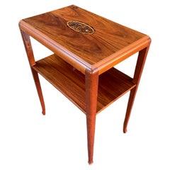 Side Table by Louis Majorelle, France, 1920s, Art Deco Mahogany Art Nouveau 1930