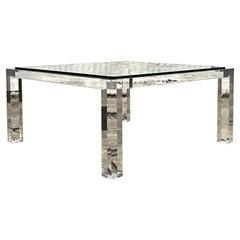 Vintage Regency Bernhardt Slab Lucite Coffee Table