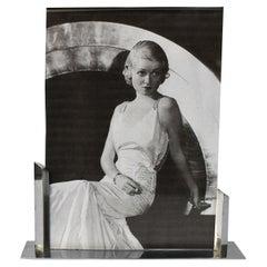 Art Deco Chrome Picture Frame, France, c1930's
