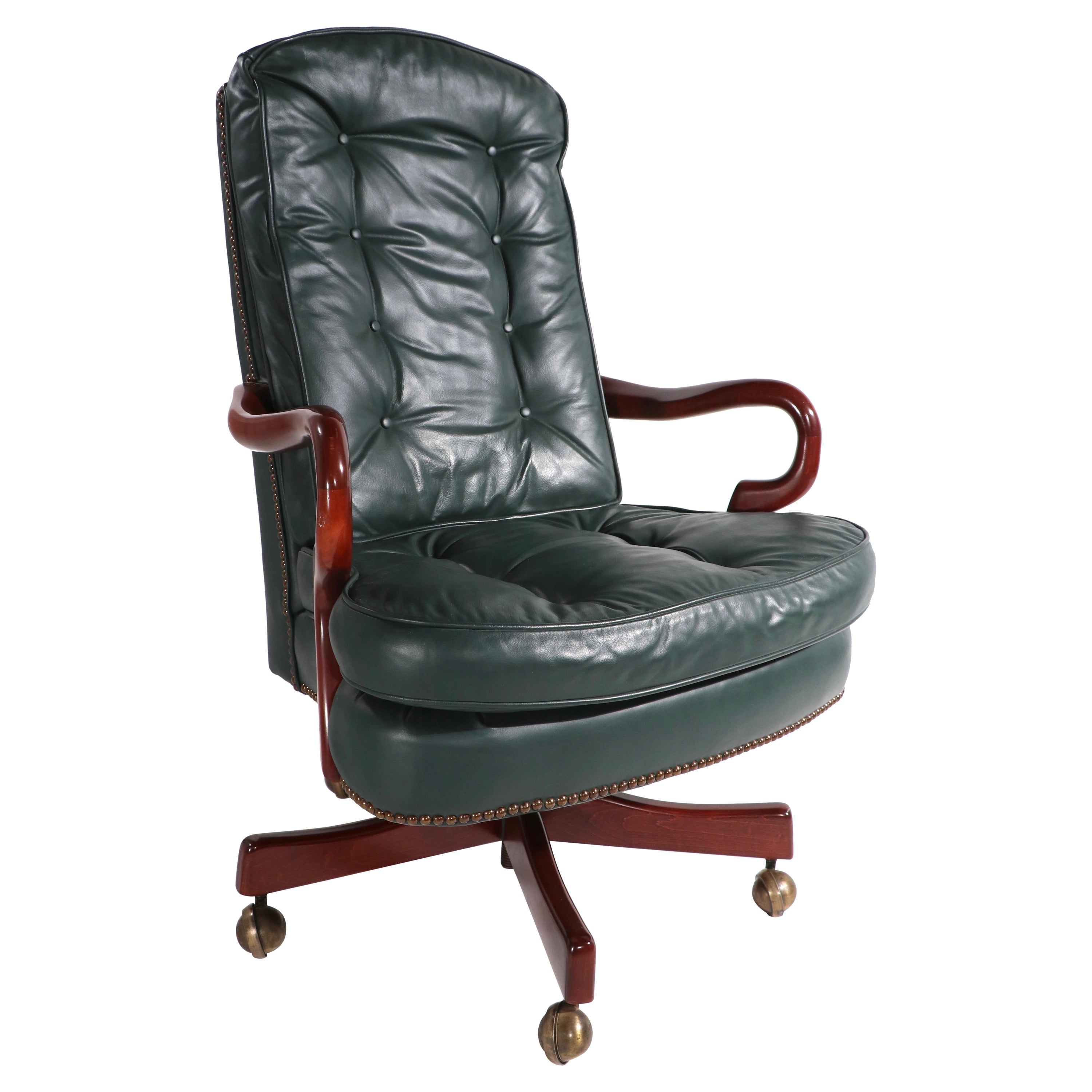 Leather Swivel Tilt Office Chair by Classic Leather Furniture Co.
