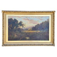 """Large-Scale William Keith Landscape Painting """"Harvest"""""""