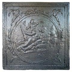 Antique European Cast Iron Fireback