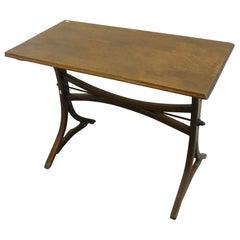 Thonet Style Art Nouveau Oak Bistro Table, circa 1900