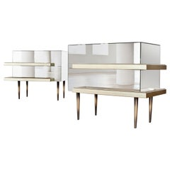 Illusion Set of 2 Nightstands Mirror by Luis Pons