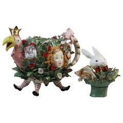 Alice in Wonderland Teapot, Handmade in Italy, Luxury Handcrafted Design 2021