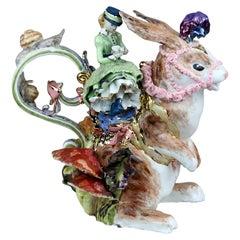 White Rabbit in Wonderlandt, Handmade in Italy, Handcrafted Design, 2021