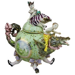 Porcelain Dragon, Handmade in Italy, Handcrafted Design 2021