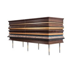 Frame Credenza Small Bronzed by Luis Pons