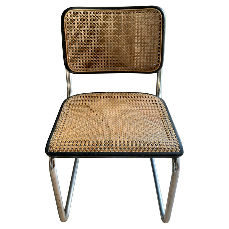 Thonet, Cane Armchair S32 by Marcel Breuer, circa 1930 For Sale