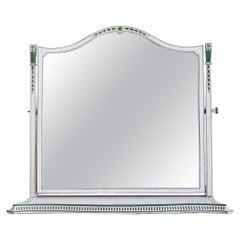 Vintage Painted Serpentine Dressing Table Mirror, England Early 20th-Century
