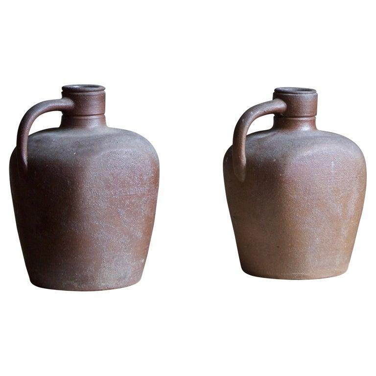 Höganäs Keramik, Vases / Bottles, Glazed Ceramic, Sweden, 1930s For Sale