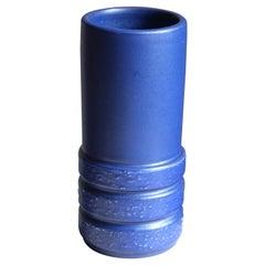 Jerk Werkmäster, Vase, Blue Glazed Ceramic, Nittsjö, Sweden, 1940s
