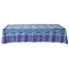 Contemporary Gregory Parkinson Tablecloth with Hand-Blocked Patterns, USA