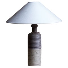 Thomas Hellström, Table Lamp, Stoneware, Nittsjö, Sweden, 1960s
