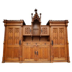 Large Early 20th Century German Gothic Revival Sacristy Cabinet