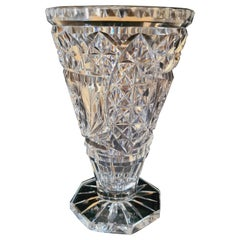 Antique American Brilliant Cut Glass Vase by Hawkes