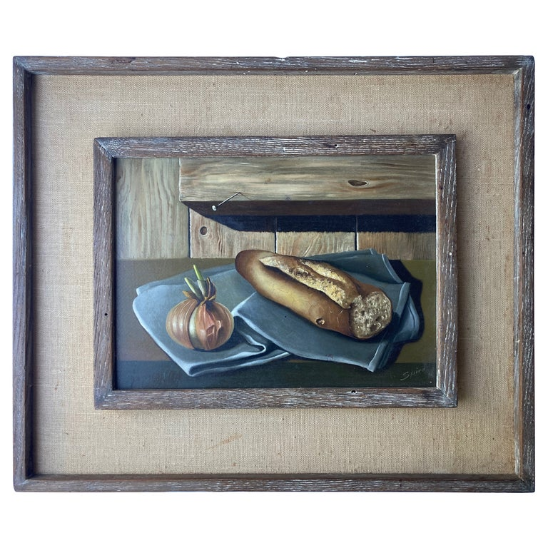 Georges Spiro, Oil on Board Painting, Still Life/ Surrealist For Sale