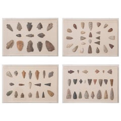 American Indian Framed Arrowhead Collection, Set of Four