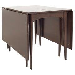 Kroehler Refinished Mid Century Drop Leaf Dining Table