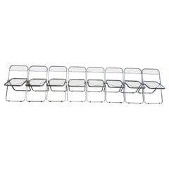 Mid-Century Modern Lucite Plia Folding Chairs by Giancarlo Piretti for Castelli