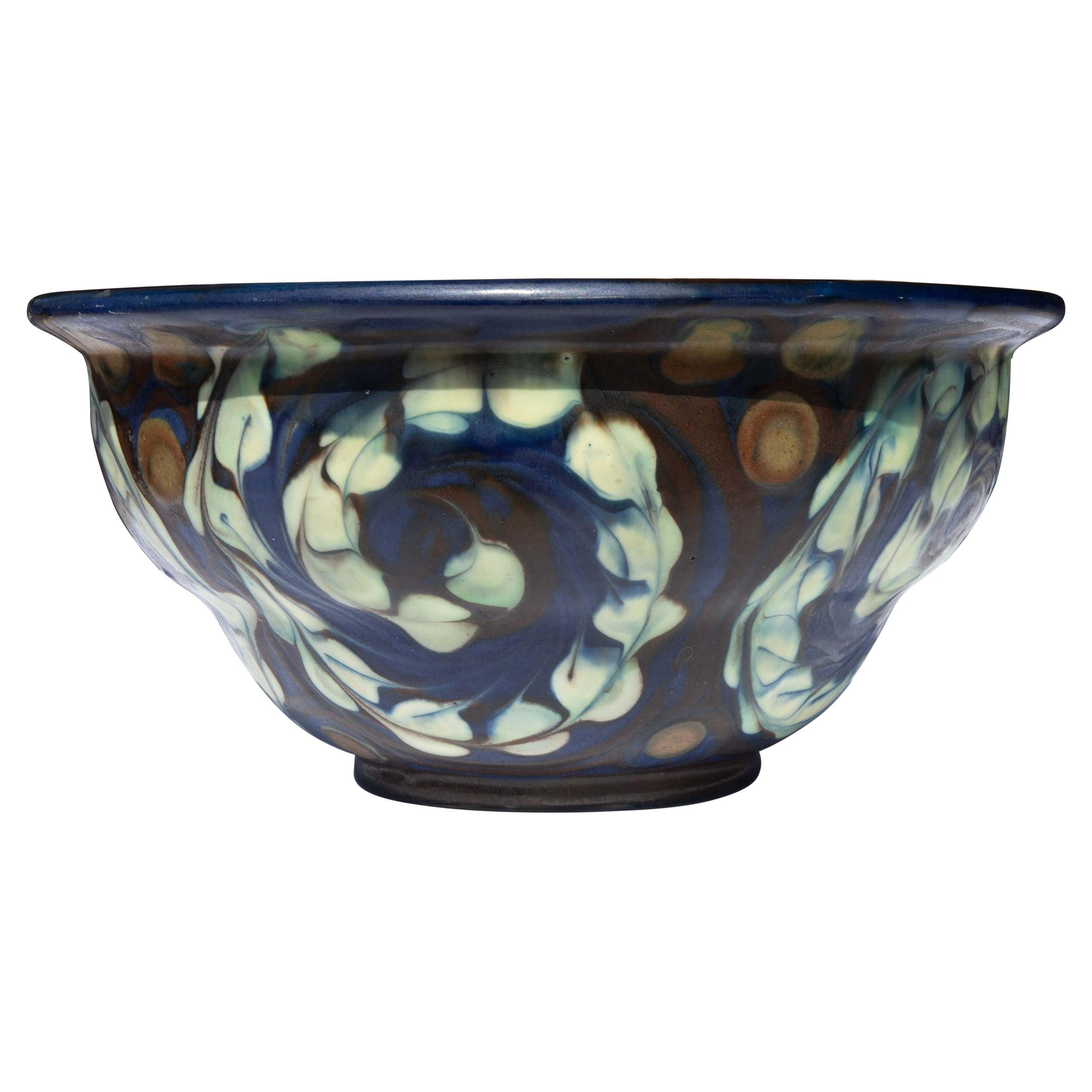 Art Pottery Bowl by Herman Kähler, Denmark, Circa 1930's