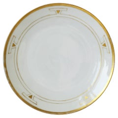 German Art Deco Period White and Gold Plate by Thomas Porcelain, 1929