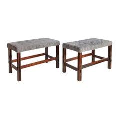 Brazilian Modern Rare Pair of Jacaranda Wood Benches